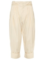 J.W.Anderson Pleat Front Wide Leg Trousers Cream