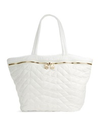 Dolce Vita Quilted Tote Bag White