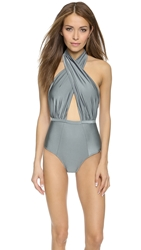 6 Shore Road By Pooja Cabana Swimsuit Silver Quarry