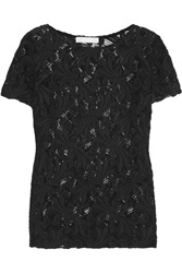 Kain Label Galina Cotton Blend Lace Top Black