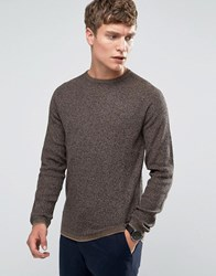 Selected Homme Crew Neck Knit Caribou Brown