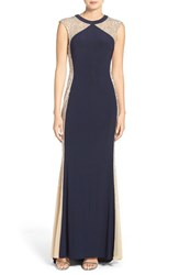 Xscape Evenings Women's Mesh And Jersey Gown
