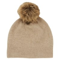 Warehouse Cashmere Hat Beige