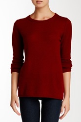 Philosophy Cashmere Classic Crew Neck Cashmere Sweater Red