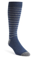 Men's The Tie Bar 'Woodland Stripe' Socks Blue