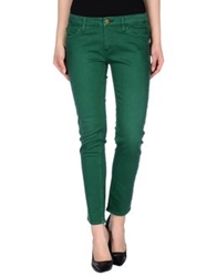 Shine Denim Pants Green