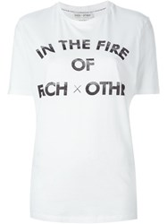 Each X Other In The Fire Of Print T Shirt White