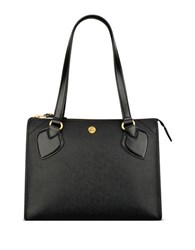 Anne Klein Textured Zippered Satchel Black