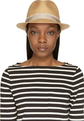 Rag And Bone Beige Woven Summer Trilby