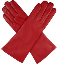 Dents Helene Cashmere Lined Leather Gloves Berry