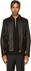 Diesel Black Leather L Roshi Jacket