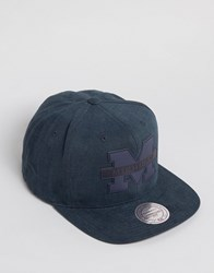 Mitchell And Ness Snapback Cap Michigan Navy