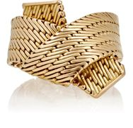 Mahnaz Collection Vintage Women's Engraved Yellow Gold Ring Colorless