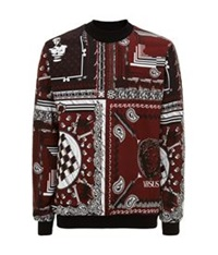 Versus Bandana Print Sweater Red