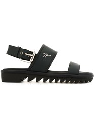 Giuseppe Zanotti Design Shark Sole Sandals Blue