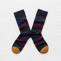 Bonne Maison Night Zig Zag Socks