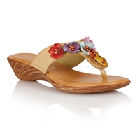 Lotus Sicily Toe Post Sandals Natural