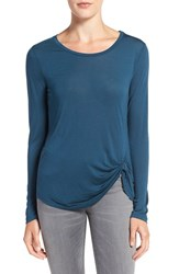 Cupcakes And Cashmere Women's 'Blakely' Long Sleeve Knit Top Teal