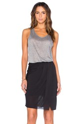Twenty Perfect Modal Colorblock Dress Gray