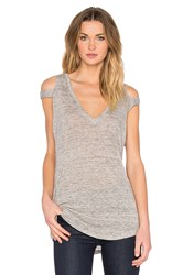 Feel The Piece Stone Slit Shoulder Tank Gray