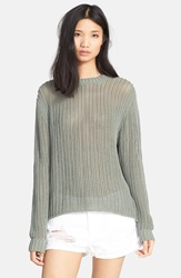 Frame Denim 'Le Oversized' Chunky Knit Sweater Military