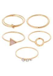 New Look 5 Pack Ring Goldcoloured