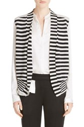 Bvba Atelier Haider Ackermann Stripe Knit And Silk Vest Black