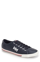 Helly Hansen 'Fjord' Leather Sneaker Men Navy Off White Red