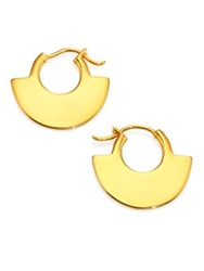 A Peace Treaty Moora Small Half Moon Hoop Earrings 0.8 Gold