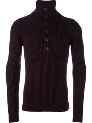 Dolce And Gabbana Ribbed Jumper Pink And Purple