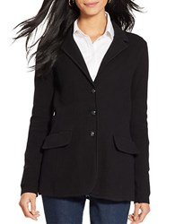 Lauren Ralph Lauren Cotton Sweater Blazer Black