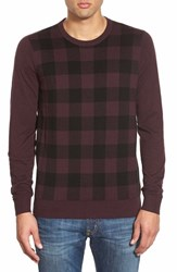 Men's Ben Sherman Check Crewneck Sweater