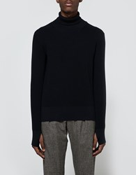 Christophe Lemaire Turtleneck Sweater Midnight Blue