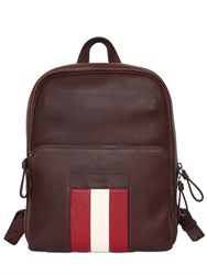 Bally Web Leather Backpack