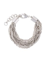 Maison Martin Margiela Mm6 Chain Detail Bracelet Metallic