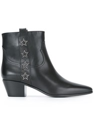 Saint Laurent 'Rock 40' Side Star Ankle Boots Black