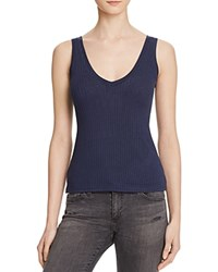 Project Social T Kate Double V Ribbed Tank Bloomingdale's Exclusive Navy