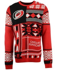 Forever Collectibles Men's Carolina Hurricanes Patches Christmas Sweater