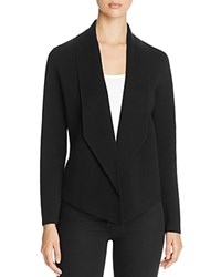 Eileen Fisher Shawl Collar Open Front Cardigan Black