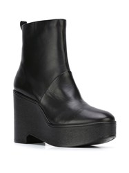 Robert Clergerie 'Bisout' Wedge Boots Black
