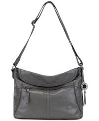 The Sak Leather Esperato Flap Hobo Slate