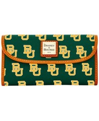 Dooney And Bourke Baylor Bears Large Continental Clutch Green