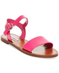 Steve Madden Donddi Flat Sandals Women's Shoes Fuschia Leather