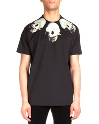 Givenchy Colombian Skull Print Jersey Tee Black