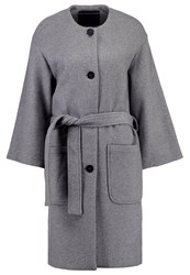 Mbym Marnie Classic Coat Charcoal Light Grey