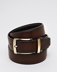 The Men's Store At Bloomingdale's Reversible Burnished Edge Buckle Leather Belt Black Brown
