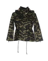Beayukmui Coats And Jackets Jackets Women Military Green