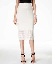 Alfani Perforated Pull On Pencil Skirt Only At Macy's Vanilla