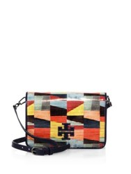 Tory Burch Britten Printed Patent Leather Combo Crossbody Bag Colorscape