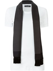Dolce And Gabbana Scarf Detail T Shirt White